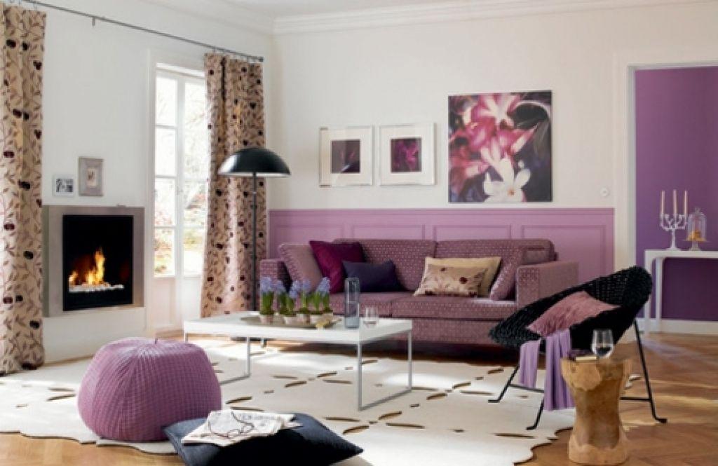 dekoideen wohnzimmer lila wohnzimmer ideen schwarz lila ...