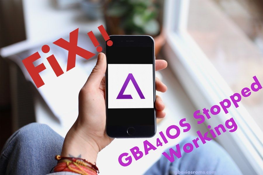Solution for gba4ios stopped working error when installing