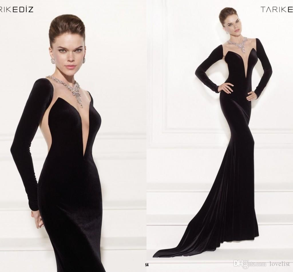 tarik ediz mermaid evening dresses elegant long sleeve evening