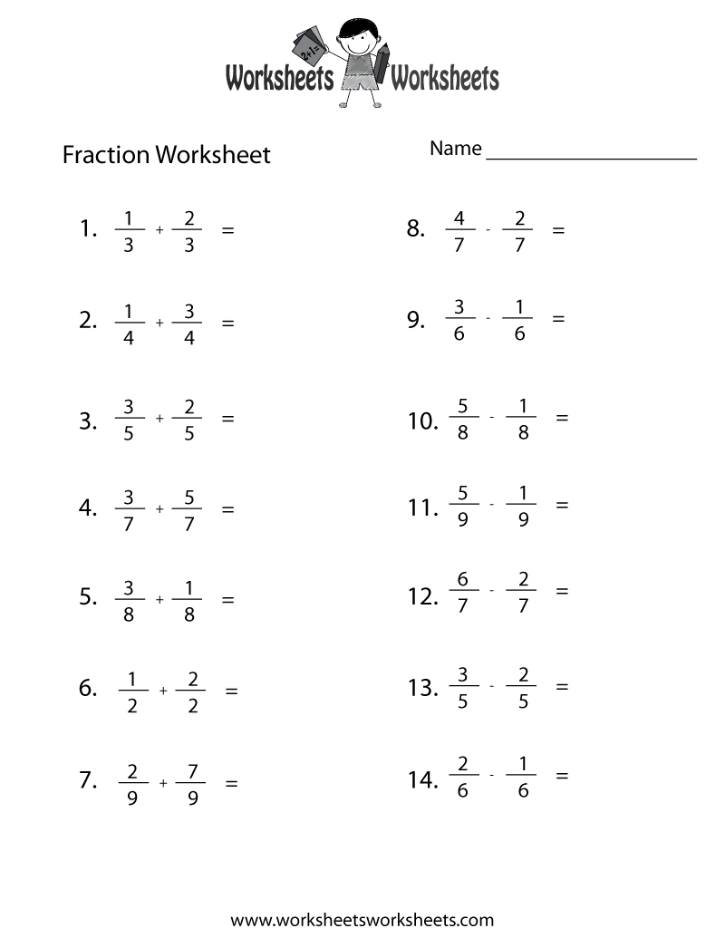 small resolution of Fraction Practice Worksheet - Free Printable Educational Worksheet   Fractions  worksheets