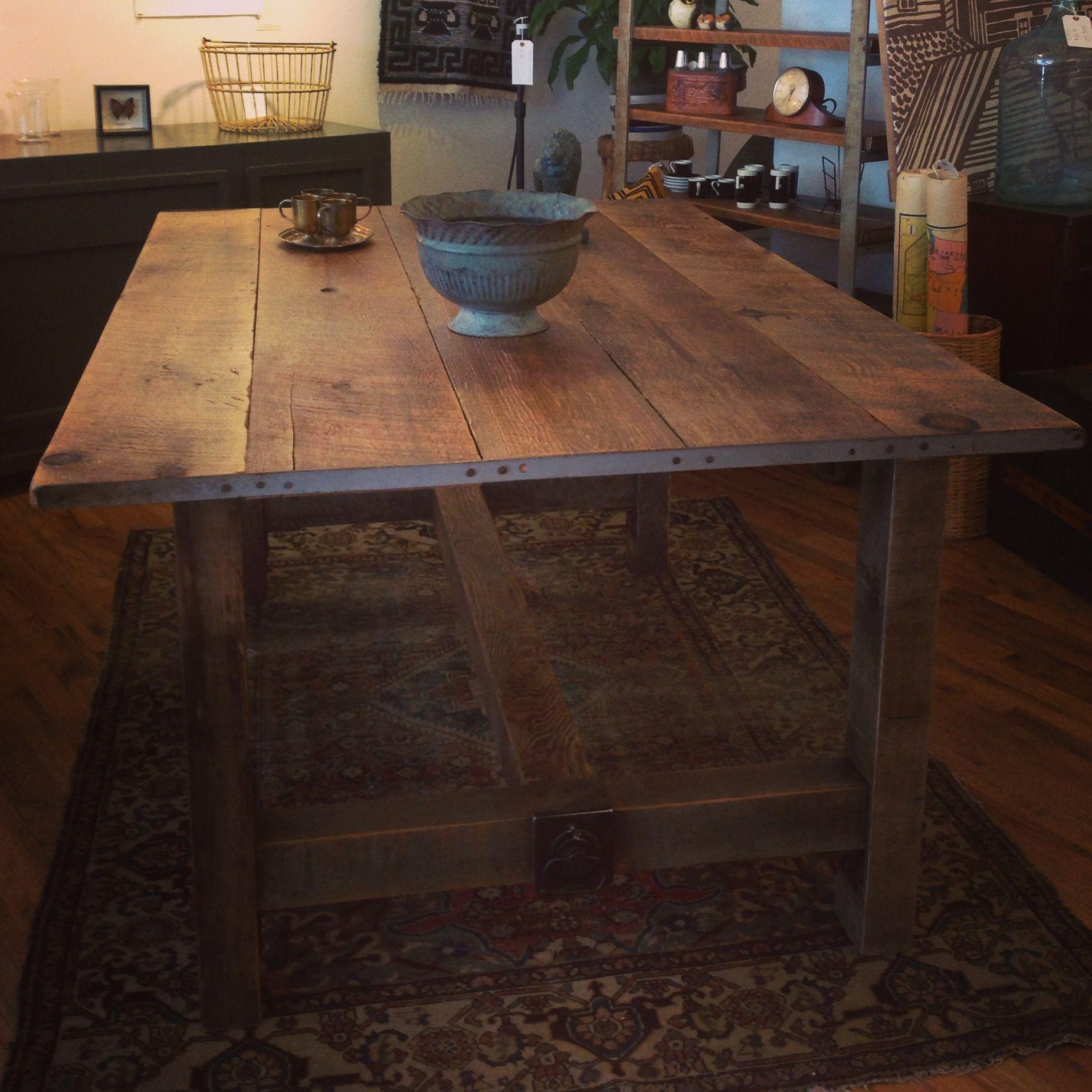 Reclaimed barnwood dining table Made in Buffalo NY   Barnwood ...