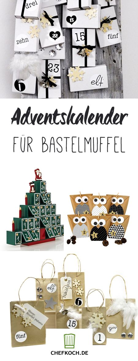 12 h bsche adventskalender f r bastelmuffel geschenke aus der k che. Black Bedroom Furniture Sets. Home Design Ideas