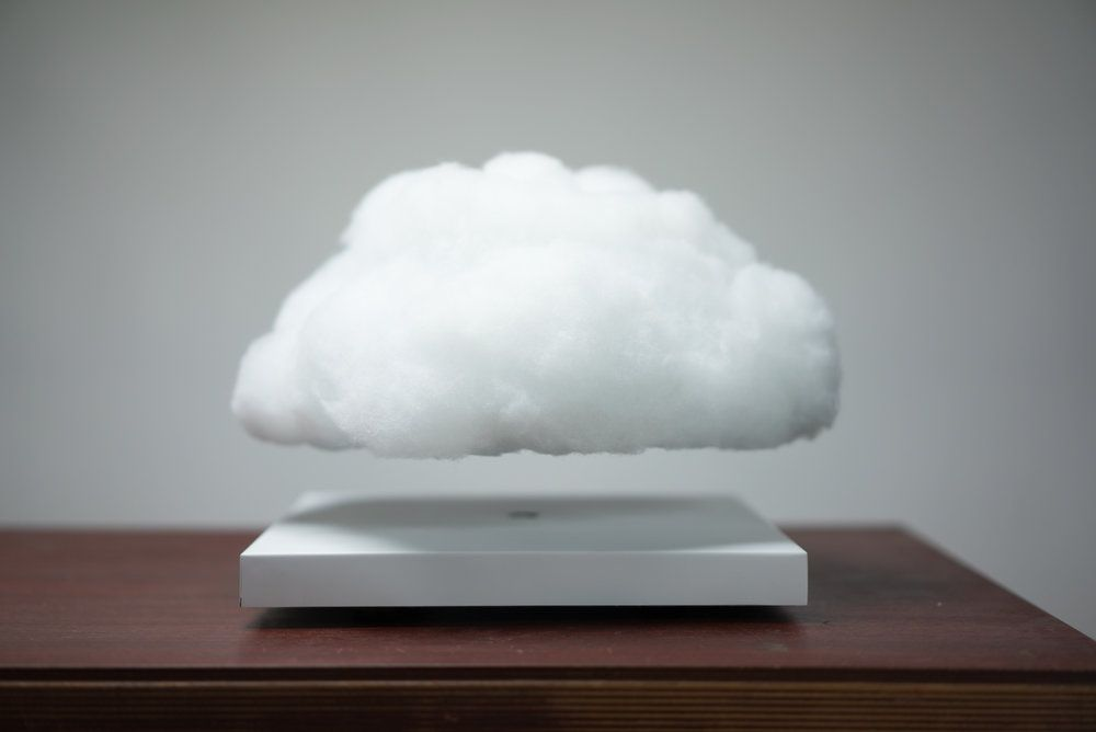 Richard Clarkson Studio Presents Floating Cloud A Magnetically Levitating Ambient Lamp The Project Is A Collaborati Cloud Lamp Floating Lighting Inspiration