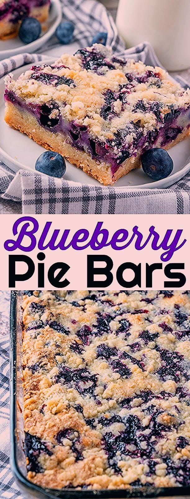 Photo of Delicious Blueberry Pie Bars Recipe