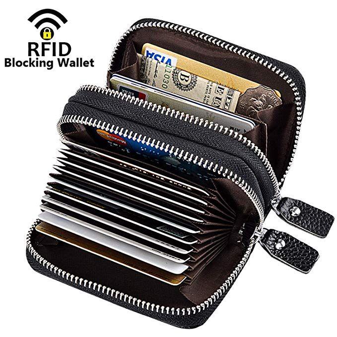 7217d5920be5 MaxGear RFID Blocking Credit Card Holder Genuine Leather Credit Card ...