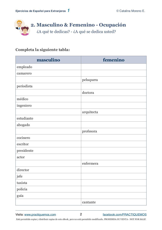 Ejercicios Espanol 1