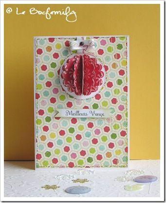 tuto carte boule de no l no l christmas pinterest carte de voeux tuto et cartes. Black Bedroom Furniture Sets. Home Design Ideas