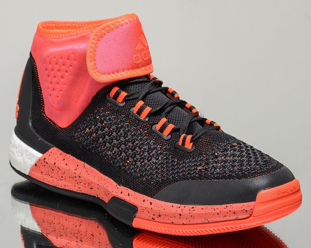 Adidas crazylight boost low 2016 bred black red mens basketball shoes - Adidas 2015 Crazylight Boost Primeknit Prim Men Basketball Shoes New Black Adidas Basketballshoes