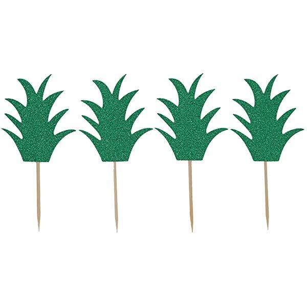 24 pcs Pineapple Donut Topper Cake Picks Hawaiian Luau Summer Tropical Party Cupcake Decorations by Ucity: Amazon.ca: Home & Kitchen #hawaiianluauparty