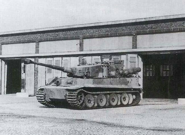 A Tiger 1 that was modified to run on Stadtgas using four cylinders mounted to the rear deck.
