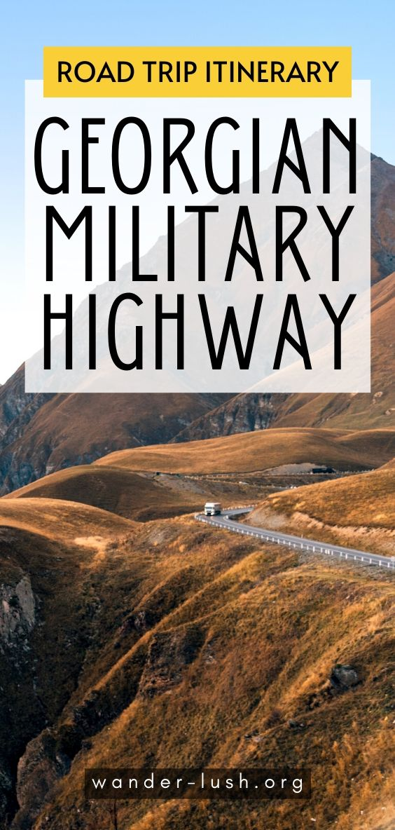A guide to driving the magnificent Georgian Military Highway from Tbilisi to Kazbegi. Includes 9 places to stop for panoramic views of the Caucasus, food, and more. #Georgia #Tbilisi #Kazbegi | Things to do in Georgia | Georgia beautiful places | Georgia Europe travel | Caucasus mountains Georgia