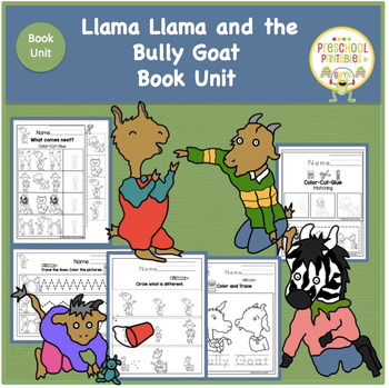 Llama Llama And The Bully Goat Book Unit Bullying Vocabulary