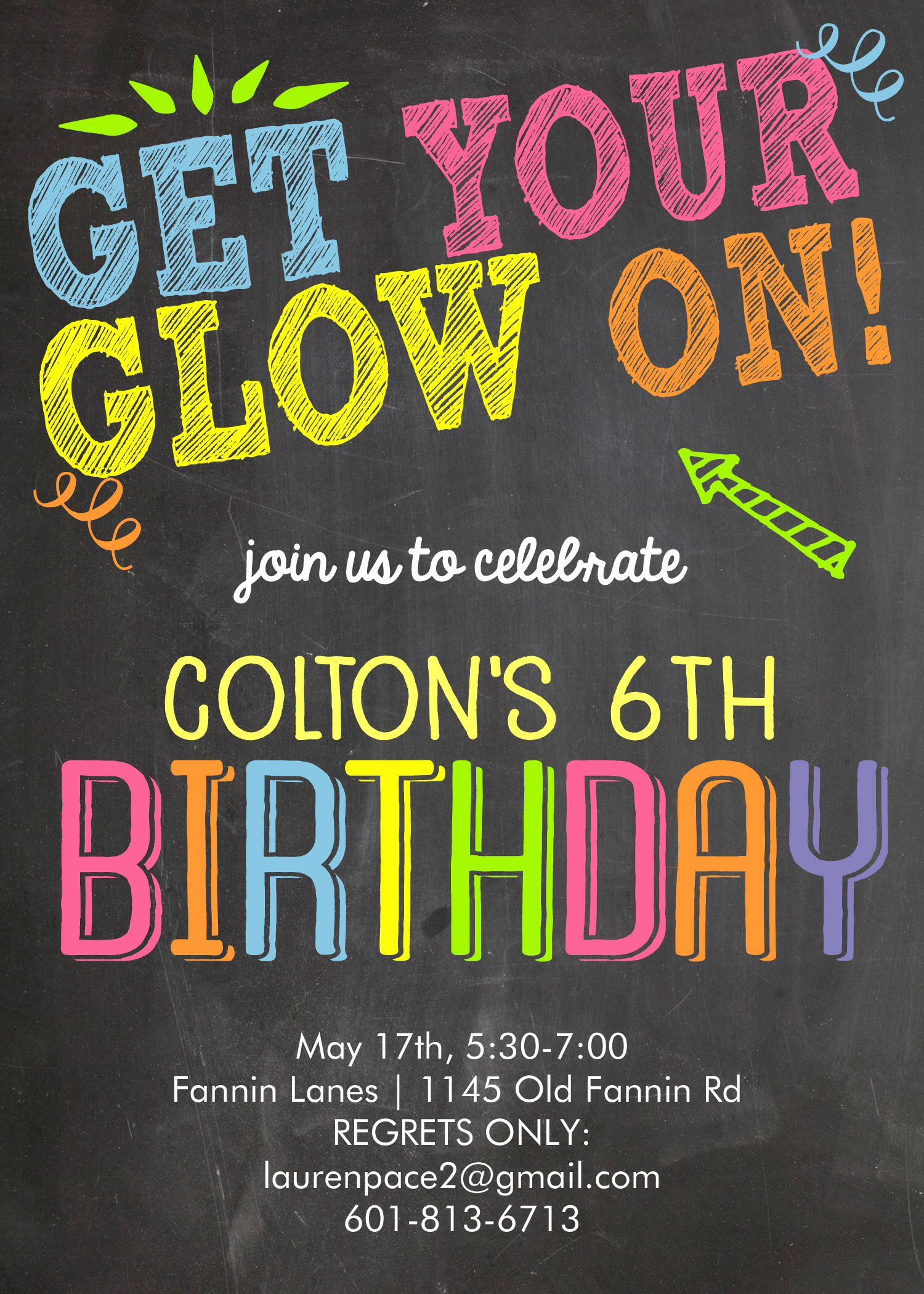 Pin By Lauren Pace On Colton S Glow Bowl 6th Birthday Neon Birthday Glow Birthday Neon Party