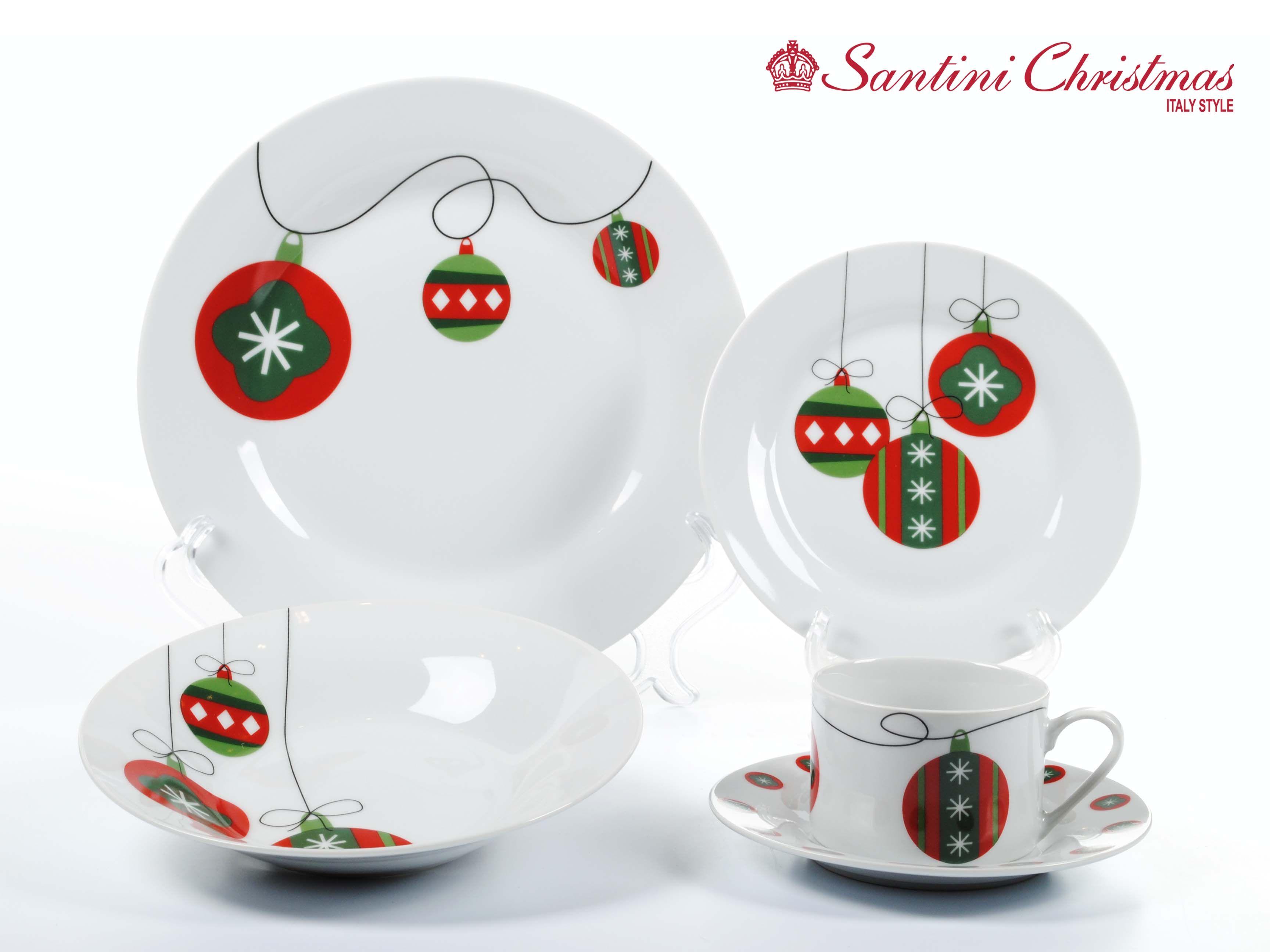 Vajilla con motivo de bolas navide as christmas balls dinnerware set vajillas pinterest - Vajillas navidenas ...