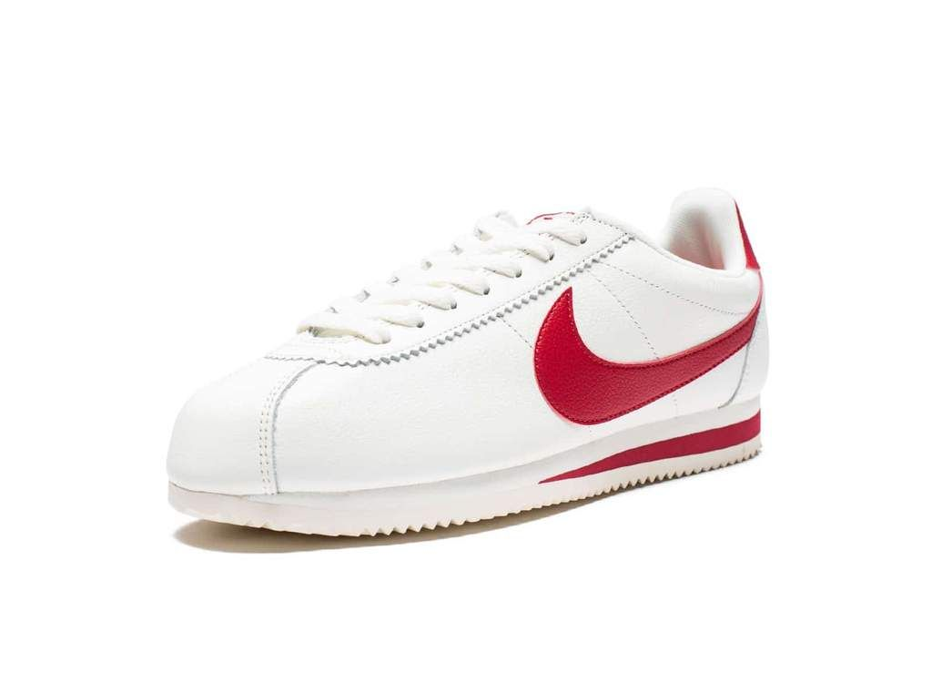 NIKE CLASSIC CORTEZ LEATHER SE - SAIL/GYM RED - Undefeated