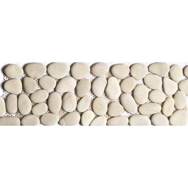 Frise galet rond ivoire 10 x 30 Swabina | Salle de Bain ...