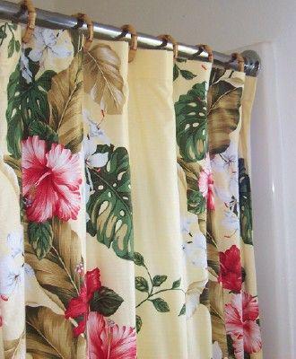 Tropical Hawaiian Print Curtains At Style Bedding