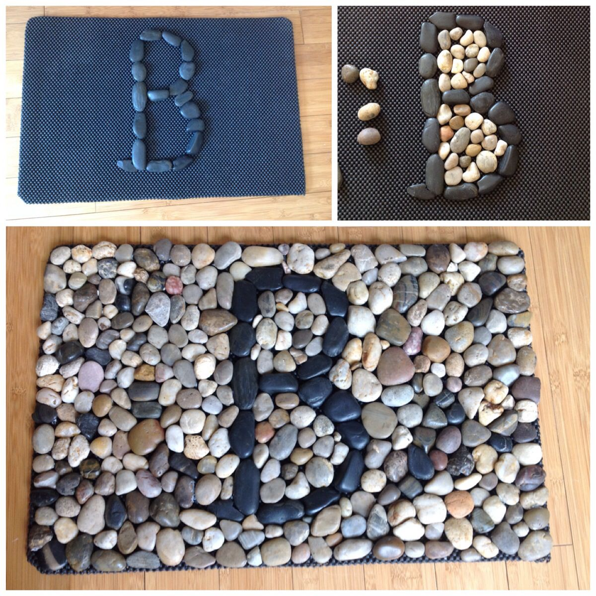 18 amazing ideas adding river rocks to your home design for River rock craft ideas
