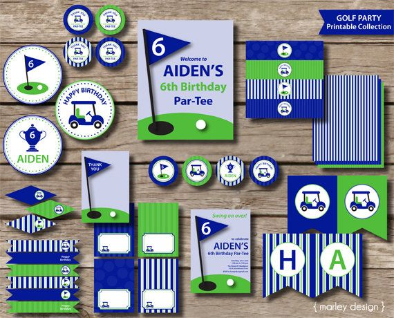 Golf Party Birthday Collection Printables Golf Birthday