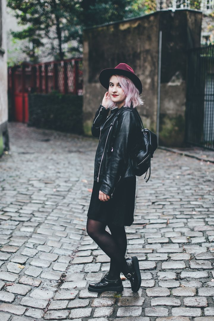 Pointed Buckle Creepers   Black leather