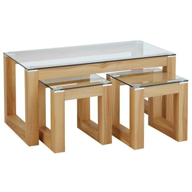 Buy Hygena Cubic Coffee Table Set With 2 Side Tables At Argos Co