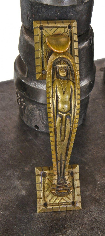 Very Unusual And Rare C 1920 S Original Ornamental Cast Brass Art Deco Egyptian Revival Style Thumb Latch Mummy Entrance Door Handle Modern Patio Doors Sliding Glass Door Blinds Sliding Door Coverings