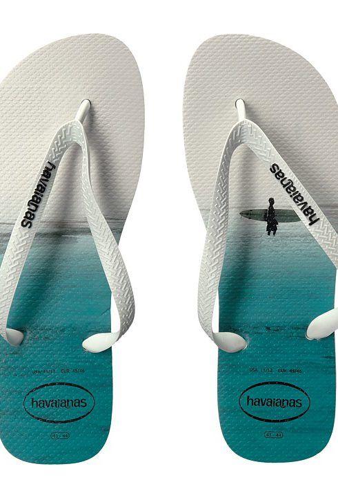 Havaianas Hype Flip Flops (White/White/Black) Men's Sandals - Havaianas, Hype Flip Flops, 4127920-110, Footwear Open Casual Sandal, Casual Sandal, Open Footwear, Footwear, Shoes, Gift, - Fashion Ideas To Inspire
