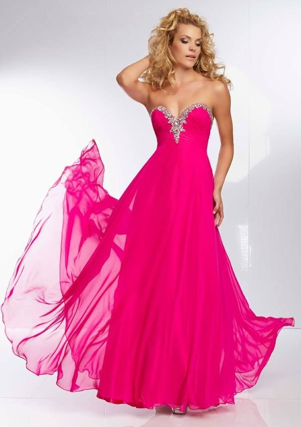 Style YAZEO Beaded Chiffon Gown Corset Tie Back. Colors Available ...