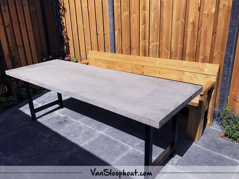 Beton Tafel Buiten : Betonlook tafel voor buiten en binnen gebruik! tafel met een