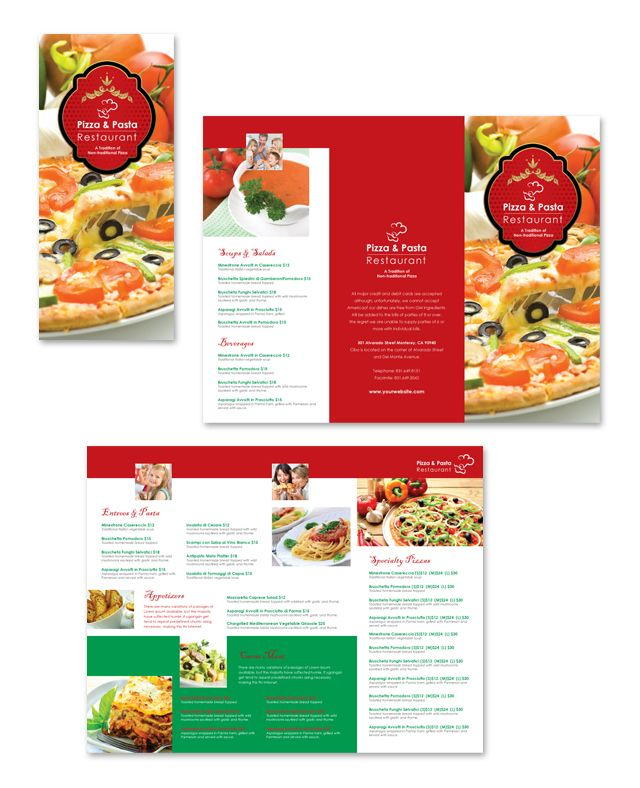 Take Out Menu Template. the takeout menu template in pdf word ...