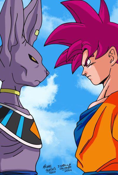 Bills Vs Goku By Bella Colombo On Deviantart Desenhos