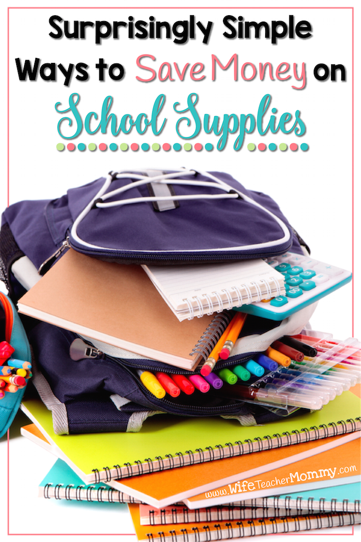 FREE $10 Bonus! Do you need to replenish your stash of school supplies? Here are some tips for you to save money on school supplies!