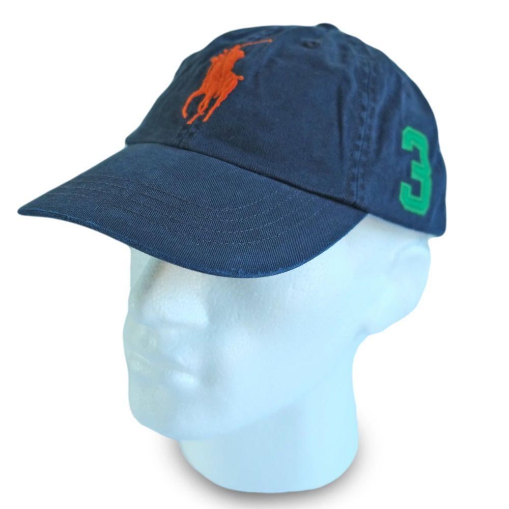 Polo Ralph Lauren Big Pony Baseball Cap Hat Navy Blue Men \u0026 Women Special  Price