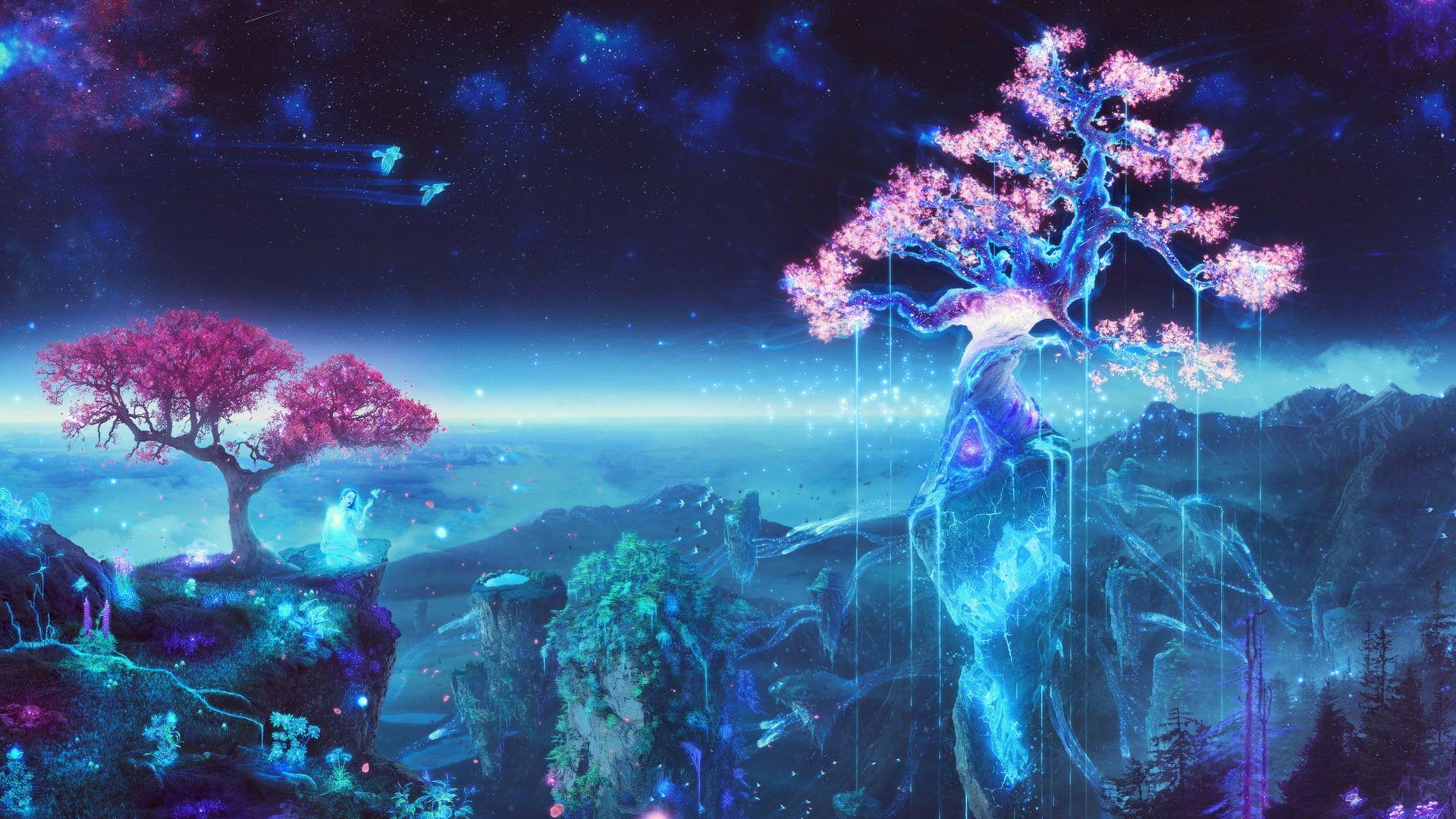 Anime Magic 1080p Wallpaper Hdwallpaper Desktop In 2020 Anime Backgrounds Wallpapers Anime Wallpaper Digital Art Anime