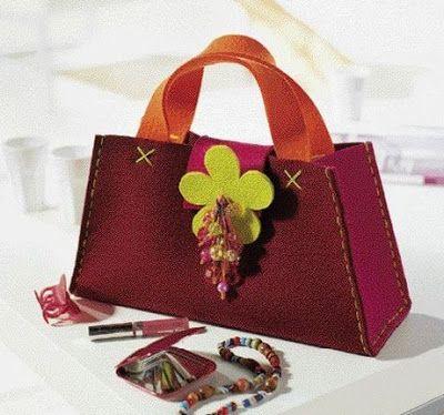 Moldes de bolsos en fieltro manualidades en pa o lency o fieltro fieltro bolsas de fieltro - Bolsos de tela hechos en casa ...