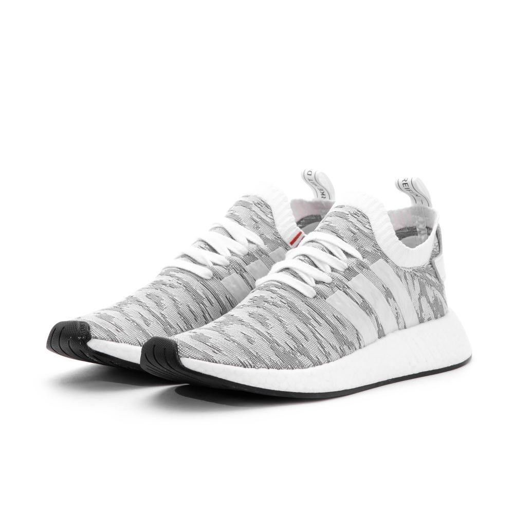 0471a6e4b Men Adidas NMD R2 Primeknit Running White Core Black BY9410