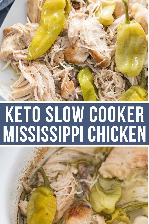 Tender & Flavorful Crock Pot Mississippi Chicken (Keto & Low Carb)