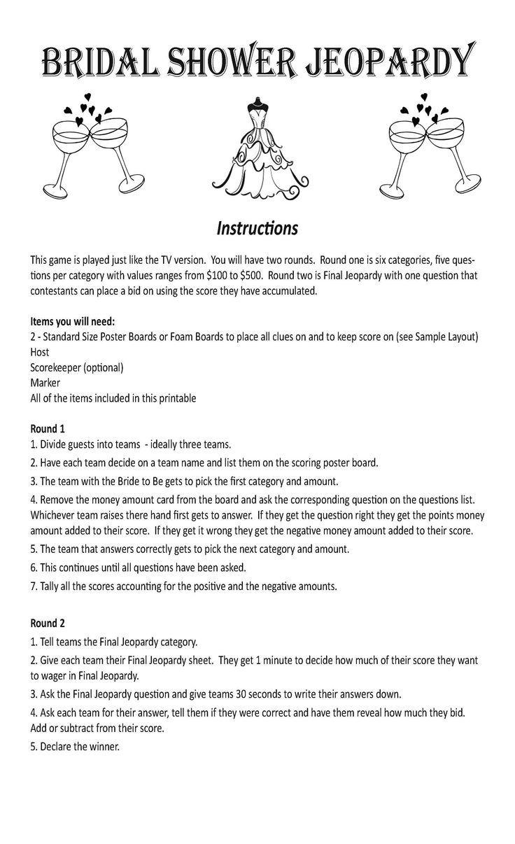 18 wedding Games for money ideas