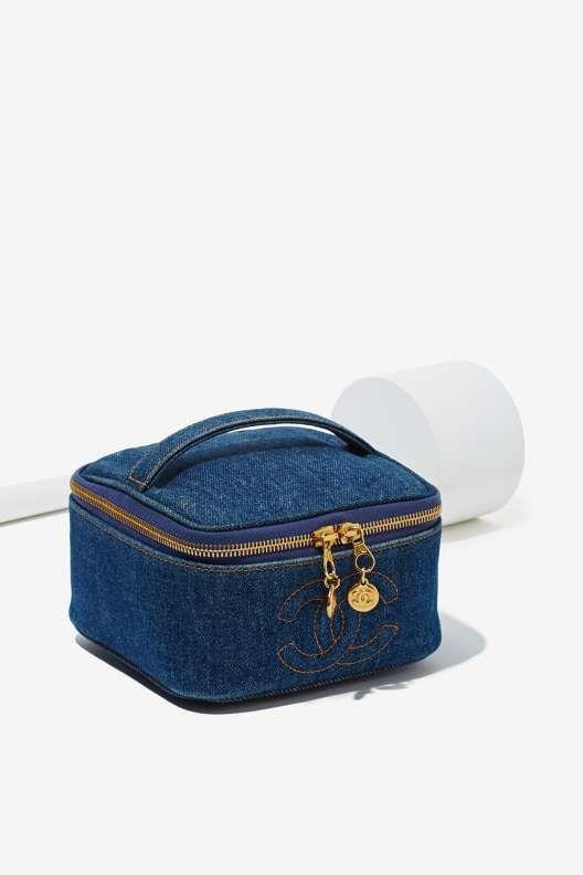 3dce12d639b9 Vintage Chanel Denim Vanity Case - Bags   Bags   Vintage chanel bag ...