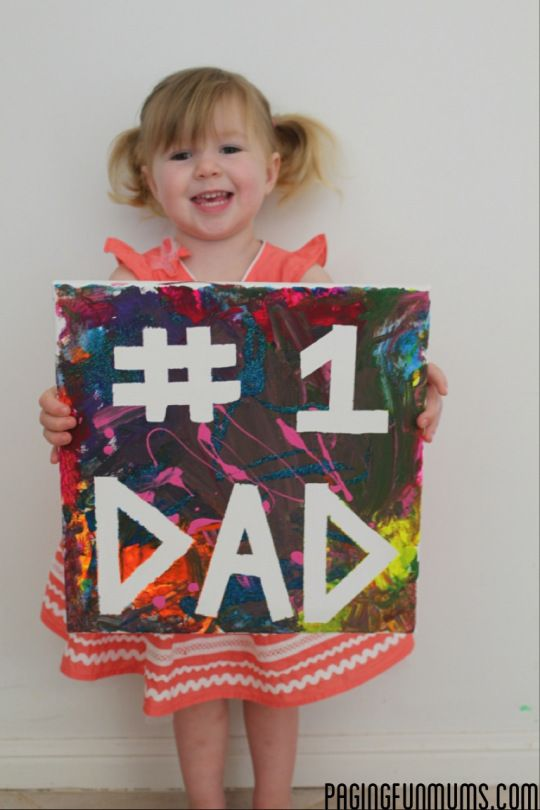 Masking Tape Canvasthe Perfect Idea For Fathers Day Birthdays Or Christmas Presents