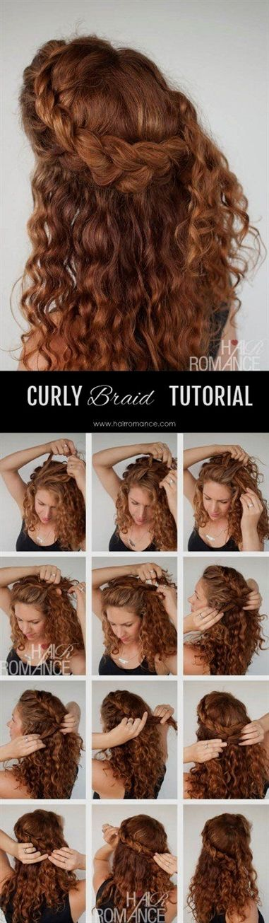 10 Easy Hairstyle Tutorials For Naturally Curly Hair Curly Hair Styles Hair Romance Curly Hair Styles Naturally