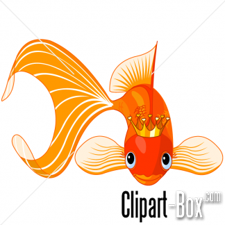 Clipart King Fish Cartoon Goldfish Fish Illustration Goldfish