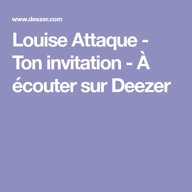Louise attaque ton invitation couter sur deezer shed louise attaque ton invitation couter sur deezer stopboris Gallery