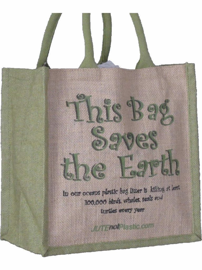 Jute Eco Friendly Shopping Bag Various Slogans Natural Fibre ...