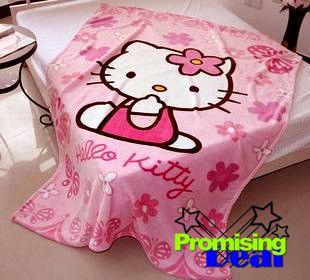 Hello Kitty Plush Bedding Throw Blanket Quilt Sheet