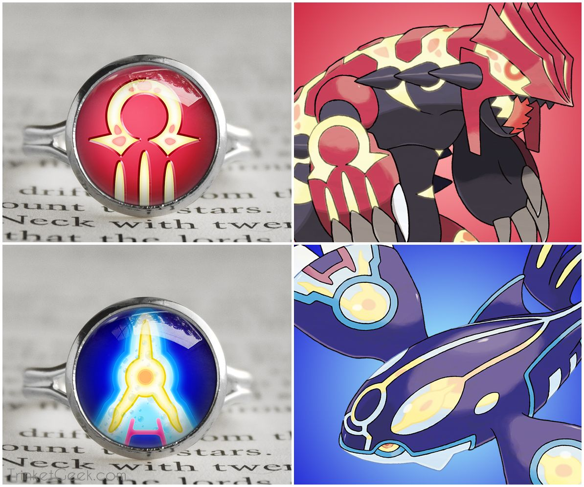 Pokemon Primal Symbol Rings Primal Kyogre And Primal
