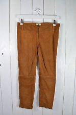 One Teaspoon Lederhose Donna Pantaloni in pelle marrone chiaro cognac camoscio Tg. 8/36