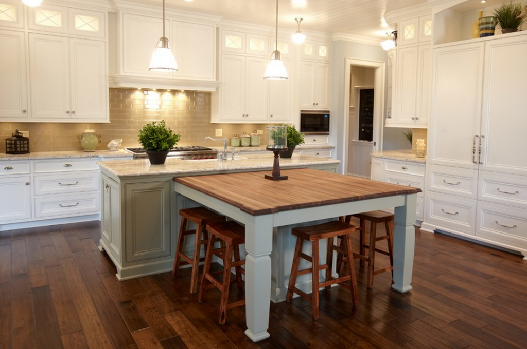 Consider Butting A Table Up Against Your Island If You Have The Space To Do So Kitchen Island Table Diy Kitchen Island Kitchen Island Diy Plans