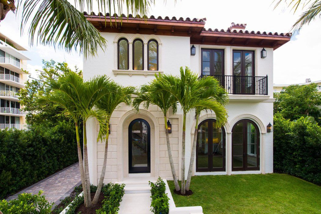 Awesome New Mediterranean Style Home In Palm Beach Ex Teriors Home Interior And Landscaping Dextoversignezvosmurscom
