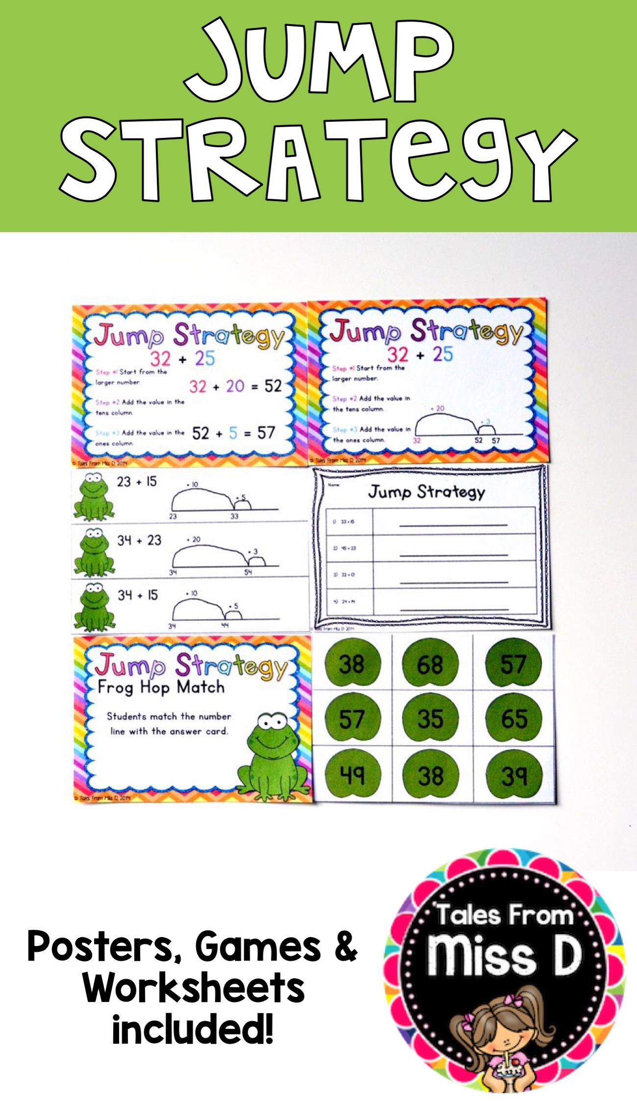 Jump Strategy Number Line Strategies Math Freebie Jump strategy addition worksheets year 4